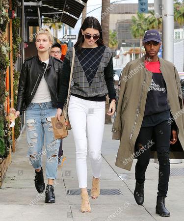 Hailey Baldwin, Kendall Jenner and friend Shamari Maurice