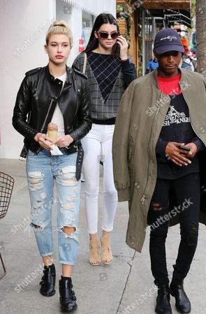 Stock Photo of Hailey Baldwin, Kendall Jenner and friend Shamari Maurice