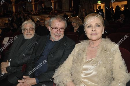 Virna Lisi with directors Felice Laudadio and Ettore Scola