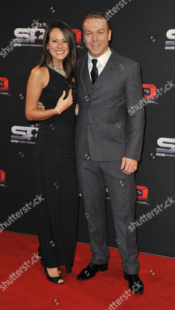 Sir Chris Hoy And Wife Sarra Kemp - 60th Anniversary Of The Bbc Sports Personality Awards 2013 At The First Direct Arena Leeds West Yorkshire.