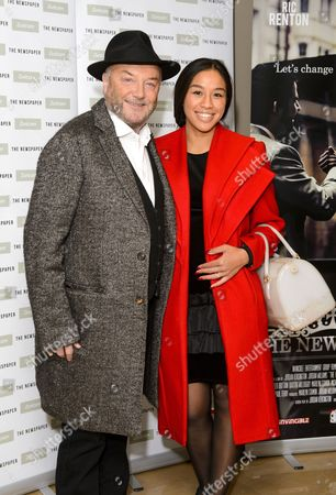 Stock Picture of George Galloway and Putri Gayatri Pertiwi