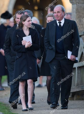 Editorial image of The Funeral of Sarah Staples at the Church of St Peter & St Paul, Great Somerford, Wiltshire, Britain - 19 Dec 2014