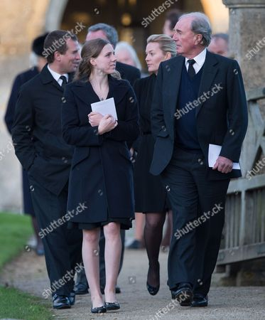 Editorial photo of The Funeral of Sarah Staples at the Church of St Peter & St Paul, Great Somerford, Wiltshire, Britain - 19 Dec 2014