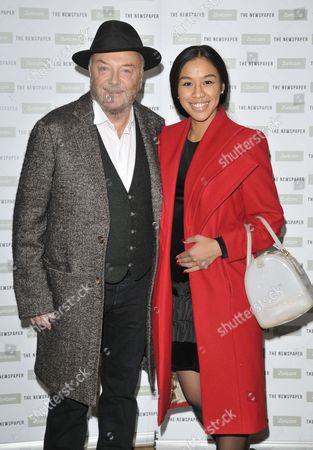 Stock Photo of George Galloway and Putri Gayatri Pertiwi