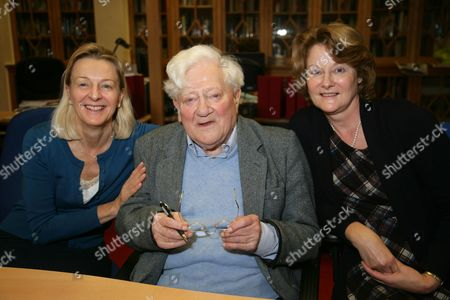 Stock Picture of Richard Adams with his two Daughters Juliette & Ros
