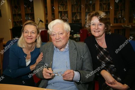 Richard Adams with his two Daughters Juliette & Ros