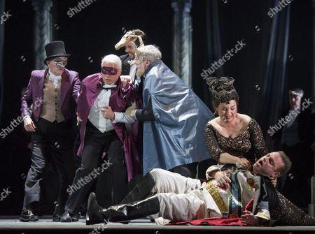 Dmitri Hvorostovsky as Renato, Joseph Calleja as Riccardo, Liudmyla Monastyrska as Amelia