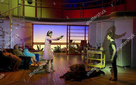 Editorial photo of 'Women on the Verge of a Nervous Breakdown' musical performed at the Playhouse Theatre, London, Britain - 22 Dec 2014
