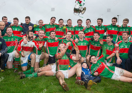 David Kennedy and Loughmore Castleiney players celebrate with the cup after the game