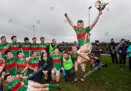David Kennedy of Loughmore Castleiney celebrates with the cup after the game