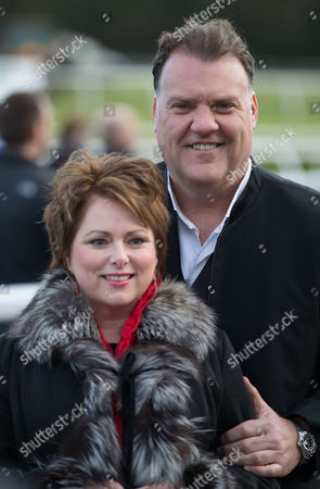 Rebecca Evans and Bryn Terfel who sang the Welsh National Anthem ahead of the start of The Coral Welsh Grand National