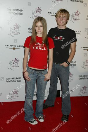Stock Picture of Avril Lavigne and Evan Taubenfeld