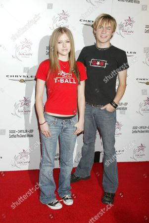 Stock Image of Avril Lavigne and Evan Taubenfeld
