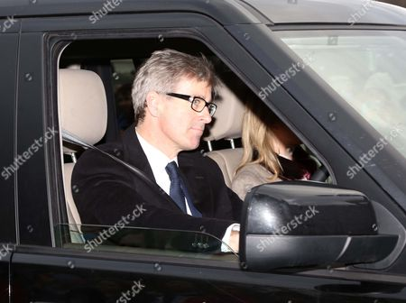The Queen Hosts A Pre-christmas Lunch At Buckingham Palace For The Royal Family. Lady Helen Windsor And Husband Timothy Taylor Driving To Palace Arrives For The Lunch.