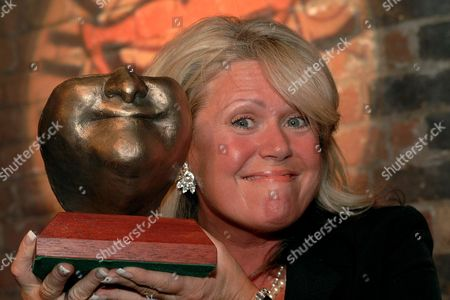 Tracy Dawson, widow of Les Dawson, unveiled the 'Les' - The Les Dawson Award for Services to Comedy