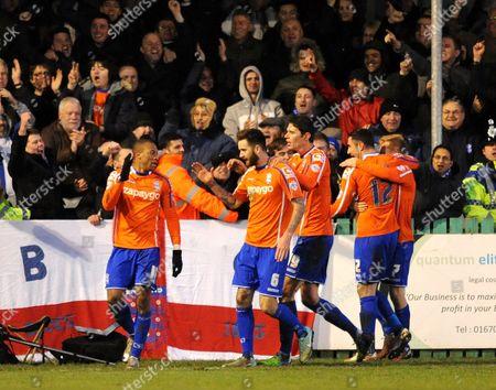 Wesley Thomas of Birmingham City celebrates scoring their third goal