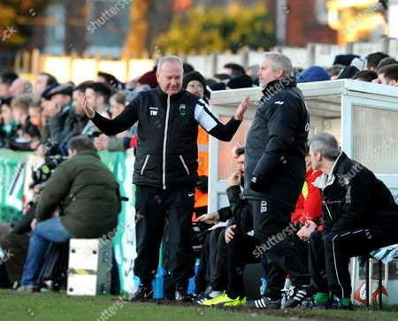 Tom Wade (left) manager of Blyth Spartans with his assistant Colin Meyers