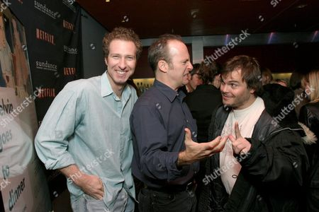 Writer Michael Blieden, director Bob Odenkirk and Jack Black
