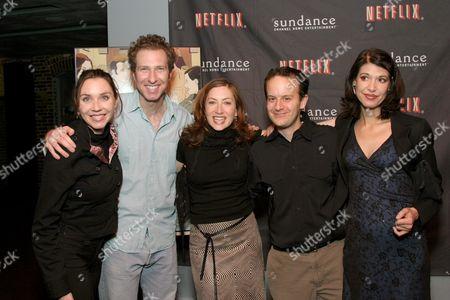Stephanie Courtney, writer Michael Blieden, Annabelle Gurwitch, Matt Price and Kathleen Roll