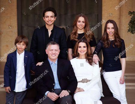 King Abdullah II, Queen Rania Al Abdullah, HRH Crown Prince Hussein, HRH Prince Hashem and HRH Princess Salma