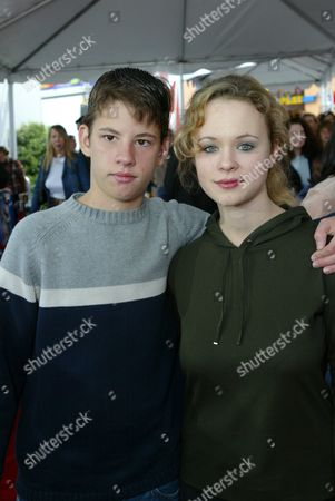 Stock Image of Thora Birch and brother Bolt Birch