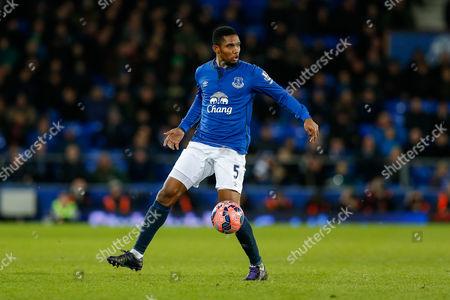 Samuel Eto'o of Everton in action