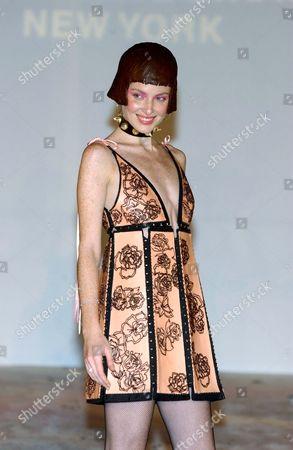 MODEL TAYLOR FOSTER IN DRESS MADE BY CARMEN MARC