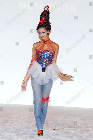 MODEL OLIVIA REDMOND IN A DRESS BY BETSEY JOHNSON