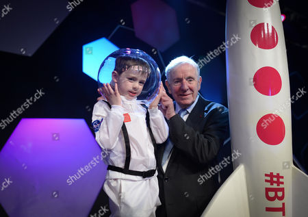 Dr Tony Scott, one of the founders of the Young Scientist & Technology Exhibtion, pictured with his grandson, Harry Scott Horley (age 5)