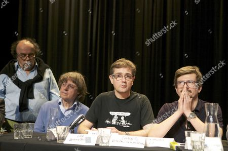 L-R: Jean-Micel Ribes, Jean Cabut, Renald Luzier aka Luz, Stepane Carbonnier.
