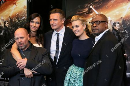 Olivier Megaton, Famke Janssen, Liam Neeson, Maggie Grace and Forest Whitaker