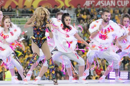 Stock Photo of Havana Brown performs during the opening ceremony during the Group A match between Australia Vs Kuwait in the 2015 AFC Asian Cup match played at the Melbourne Rectangular Stadium