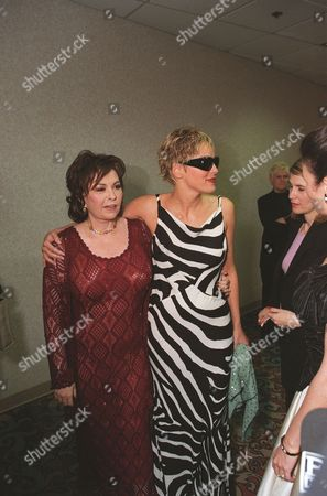 Roseanne Arnold and Sharon Stone