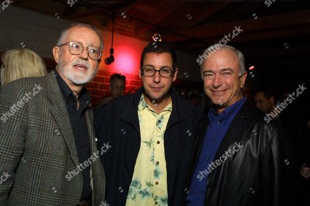 Sonys' John Calley, Producer Adam Sandler, and Sonys' Mel Harris