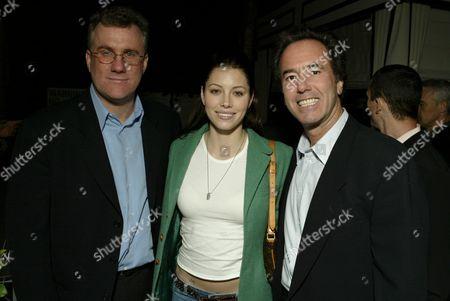 David Linde, Jessica Biel, and Rick Finkelstein