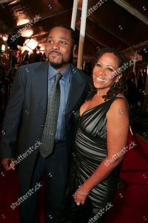 Stock Picture of Malcolm-Jamal Warner and Karen Malina White