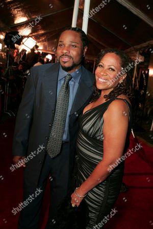 Malcolm-Jamal Warner and Karen Malina White