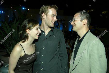 Heather McComb, James Van Der Beek and Jordan Levin