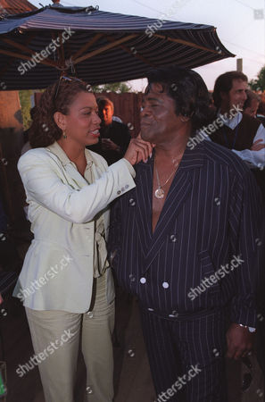 Rolanda Watts with fiance James Brown