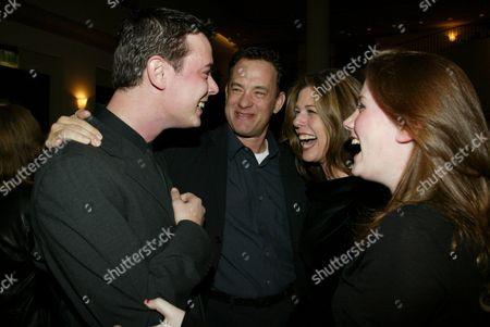 Tom Hanks, Colin Hanks, Rita Wilson and Elizabeth Hanks