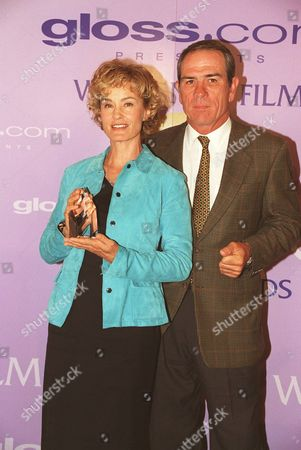 20000609  Los Angeles Jessica Lange and Tommy Lee Jones at the Women In Film 24th Annual Crystal Awards Luncheon at the Century Plaza Hotel Photo®Eric Charbonneau/BEI    A005754-34