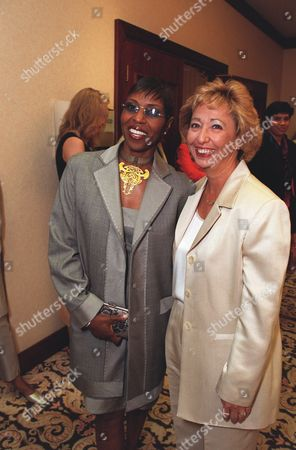 Stock Picture of 20000609  Los Angeles Pauletta Washington and Nikki Roccco at the Women In Film 24th Annual Crystal Awards Luncheon at the Century Plaza Hotel Photo®Eric Charbonneau/BEI    A005760-16a