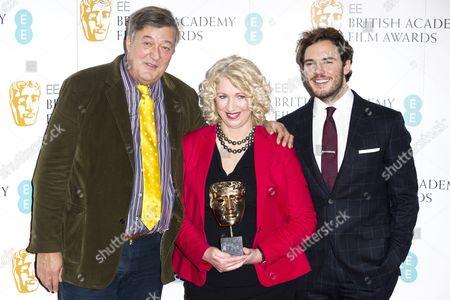 Stock Photo of Stephen Fry, Ann Morrison, Sam Claflin