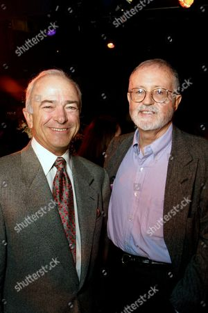"""20010123  Century City Theatres, CA Sony Pictures Predisent and COO Mel Harris with Sony Pictures Chairman and CEO John Calley at the Premiere Party of Columbia Pictures """"The Wedding Planner"""" Photo®Eric Charbonneau/Berliner/BEI"""