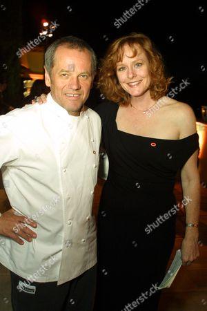 Stock Photo of Wolfgang Puck and Mary McDonough