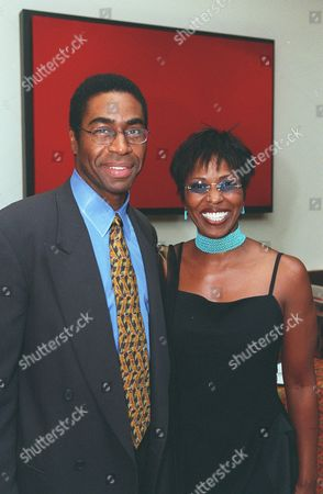 20000708  Los Angeles, CA   Dr. Keith Black and Paulette Washington at the  Cedars-Sinai Medical Center exclusive dinner party at Reign restaurant to benefit Brain Trust, an organization to help neurological disorders. Photo®Alex Berliner/BEI  A006556-8