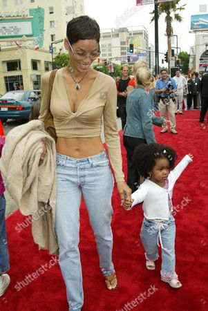 Nicole Murphy (Eddie's wife) with daughter Zola Ivy