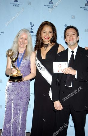 Stock Photo of JACQUELINE WHITE, MISS USA Susie Castillo AND PETER PEAKE