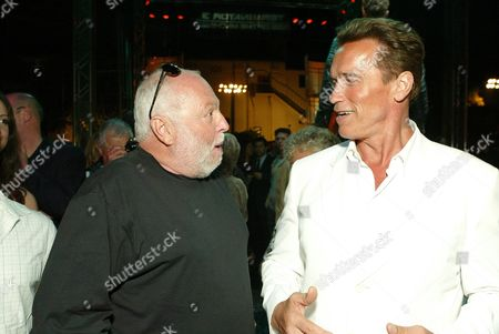 Stock Image of Andy Vajna and Arnold Schwarzenegger