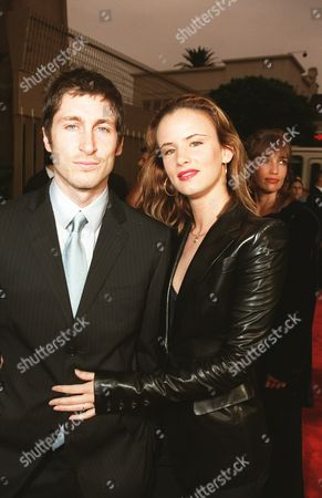 """8/29/00 Hollywood, CA  Juliette Lewis with husband Steve Berra at the Los Angeles Premiere of Artisan Entertainment's  """"The Way Of The Gun""""  at the Egyptian Theatre in Hollywood, CA. Photo®Berliner Studio/BEI A008390_3"""